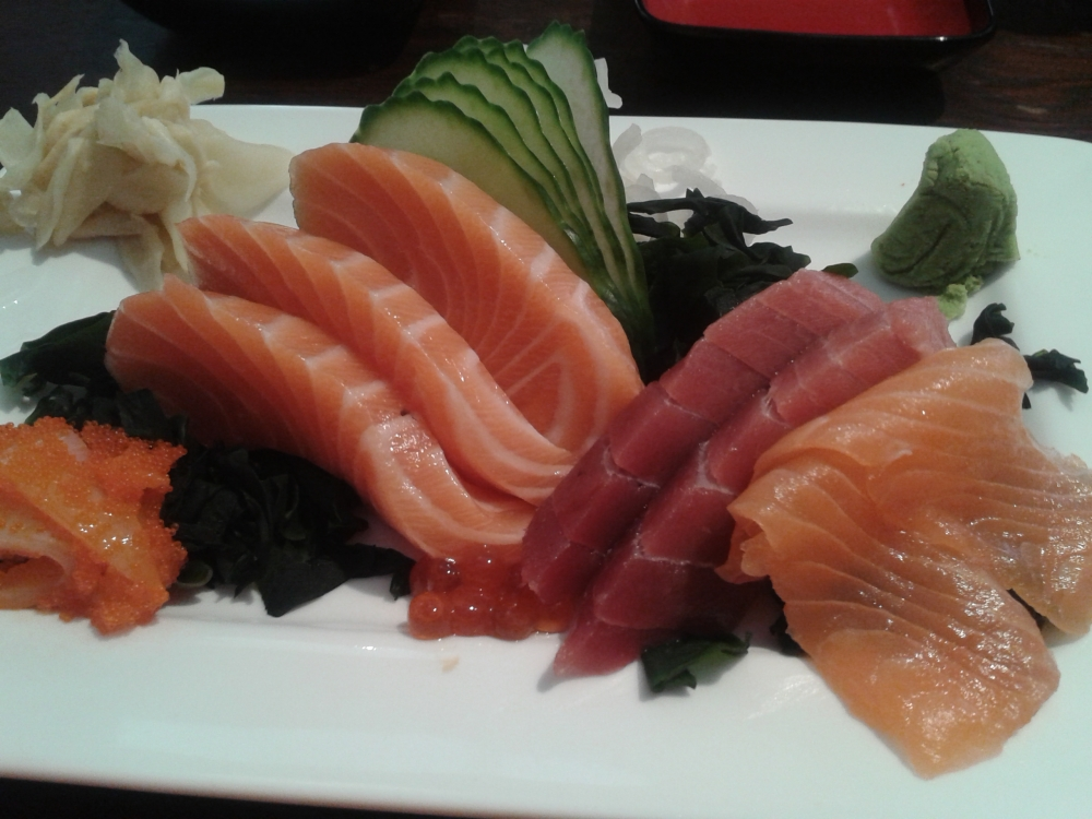 sashimi for lunch - a lovely treat!
