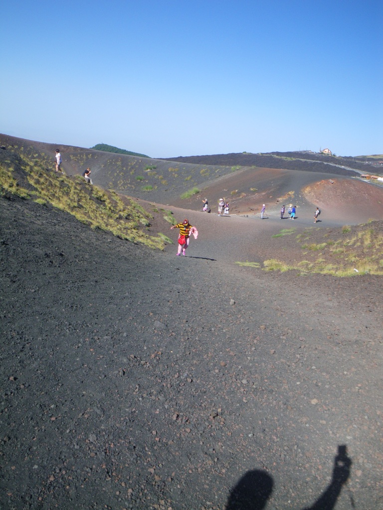 intense heat and walking up at Mt. Etna